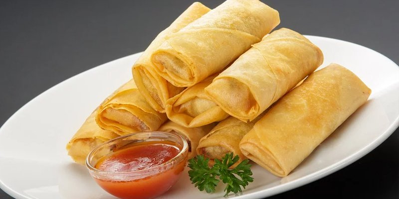 cooked egg rolls