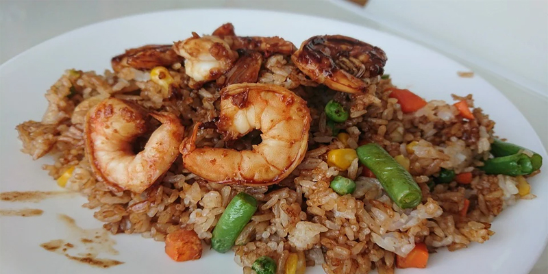 fried rice shrimp