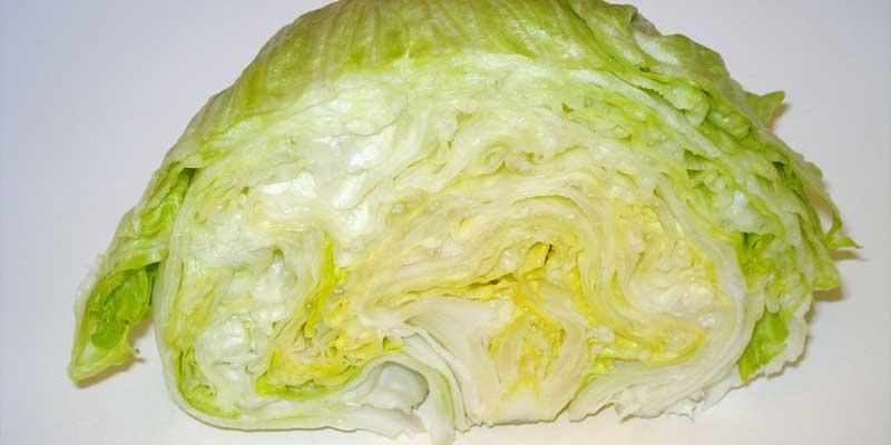 iceberg lettuce half
