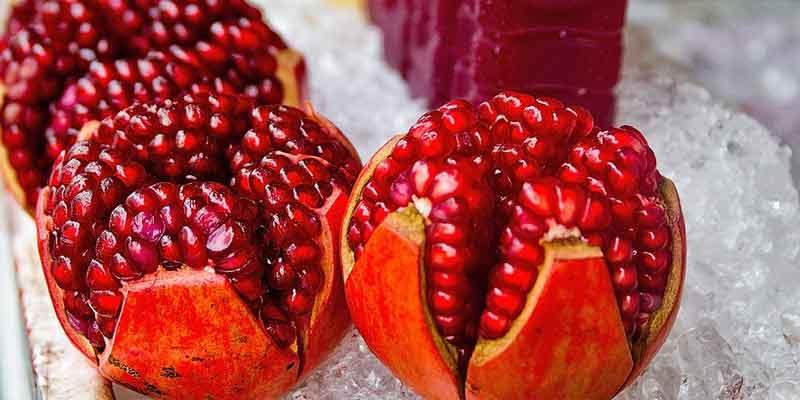 freezing pomegranate seeds