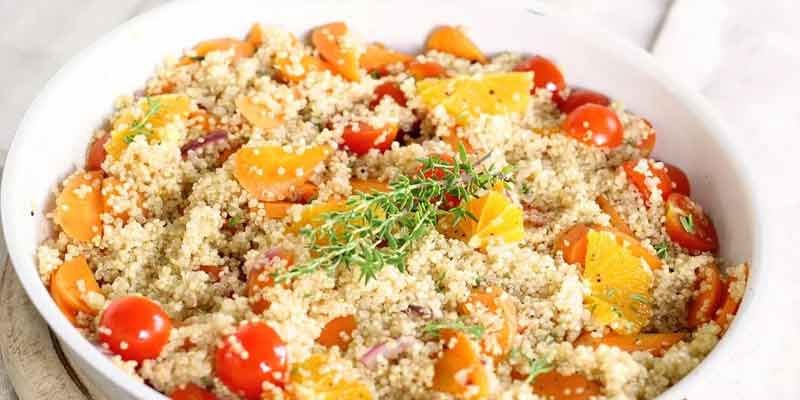 cooked quinoa meal