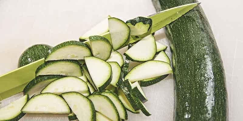 fresh cut zucchini